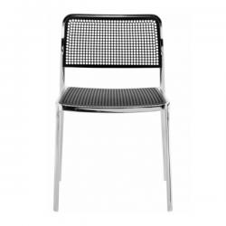 Kartell Audrey Polished Aluminium Frame Chair L2 Polished - Black