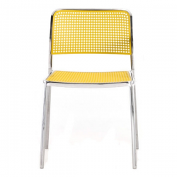 Kartell Audrey Polished Aluminium Frame Chair L6 Polished - Yellow