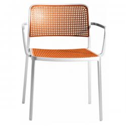 Kartell Audrey Polished Aluminium Frame Chair