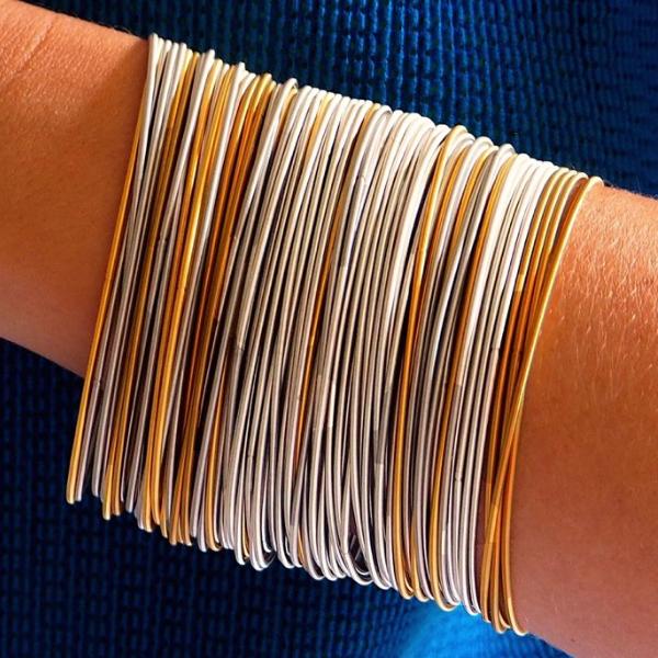 Molla Tiziana Bracelet Gold and Steel