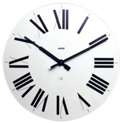 Alessi Firenze Clock White