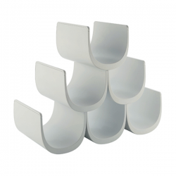 Alessi Noe Modular Bottle Holder (6 Bottles), White