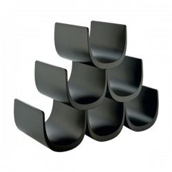 Alessi Noe Modular Bottle Holder (6 Bottles) Black