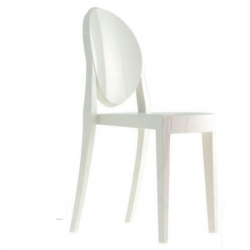 Kartell Victoria Ghost Chair Solid White