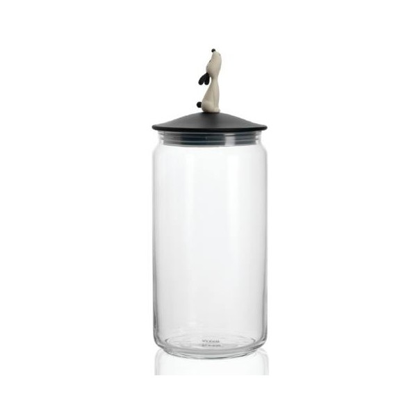 Alessi Lula Jar Black for Dog Food Black