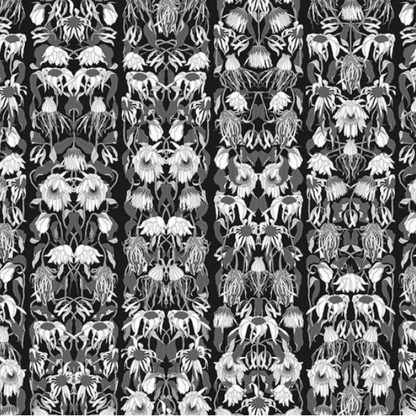 NLXL Withered Flowers Black Wallpaper by Studio Job
