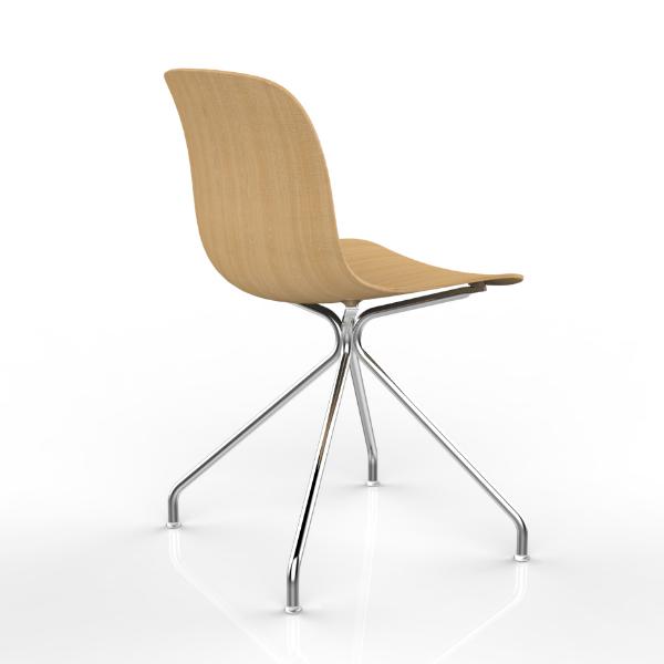 Magis Troy wood swivel chair