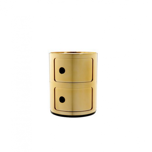 Kartell Componibili Metallic 2 Sections Gold