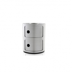 Kartell Componibili Metallic 2 Sections Chrome