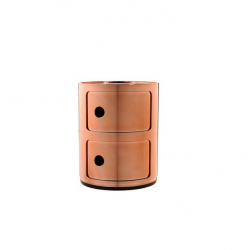 Kartell Componibili Metallic 2 Sections Copper