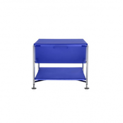Kartell Mobil 1 Drawer Opaque Cobalt blue