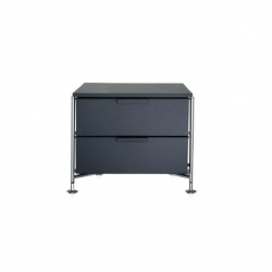 Kartell Mobil 2 Drawers Opaque Slate (not transparent)