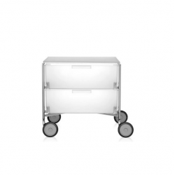 Kartell Mobil 2 Drawers Opaque Ice