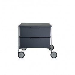 Kartell Mobil 2 Drawers Opaque Slate (not transparent