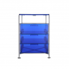 TKartell Mobil 3 Drawers and Shelf ransparent Blue