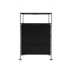 Kartell Mobil 3 Drawers and Shelf Glossy Smoke