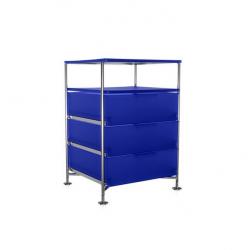 Kartell Mobil 3 Drawers and Shelf Opaque Cobalt blue