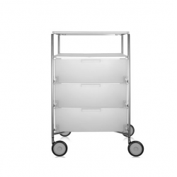 Kartell Mobil 3 Drawers and Shelf Opaque Ice
