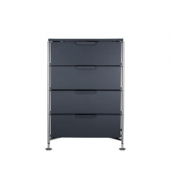 Kartell Mobil 4 Drawers Opaque Slate (not transparent)