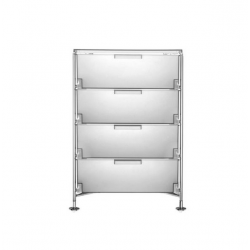Kartell Mobil 4 Drawers Opaque Ice