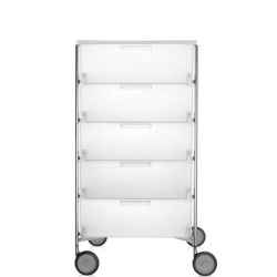 Kartell Mobil 5 Drawers Opaque Ice