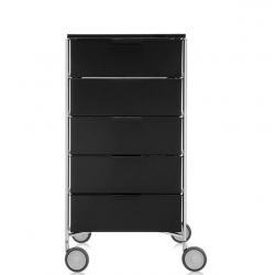 Kartell Mobil 5 Drawers Glossy Smoke