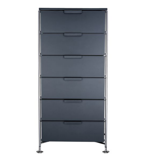 Kartell Mobil 6 Drawers Opaque Slate (not transparent)