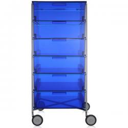 Kartell Mobil 6 Drawers Transparent Blue