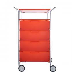 Kartell Mobil, Shelf and Handles Opaque Orange