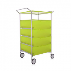 Kartell Mobil, Shelf and Handles Opaque Citron Yellow