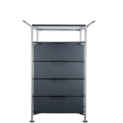 Kartell Mobil, Shelf and Handles Opaque Slate (not transparent)