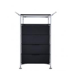 Kartell Mobil, Shelf and Handles Glossy Smoke