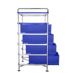Kartell Mobil, Shelf and Handles Opaque Cobalt blue