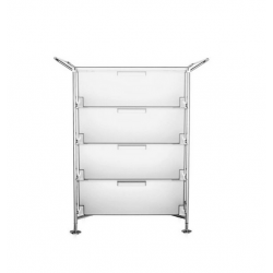 Kartell Mobil 4 Drawers and Handles Opaque Ice