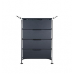 Kartell Mobil 4 Drawers and Handles Opaque Slate (not transparent)