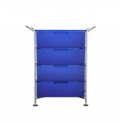 Kartell Mobil 4 Drawers and Handles Opaque Cobalt blue