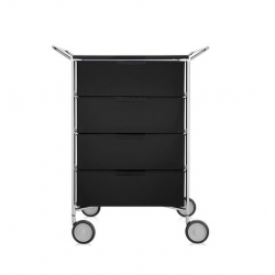 Kartell Mobil 4 Drawers and Handles Glossy Smoke