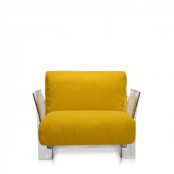 Kartell Pop Seater Farbric Trevira Mustard