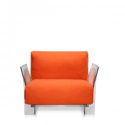 Kartell Pop Seater Farbric Trevira Orange