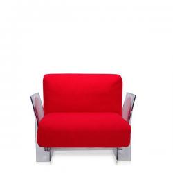 Kartell Pop Seater  Farbric Trevira Red