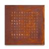 Biegert & Funk QLOCKTWO Classic Creator's Edition Rust