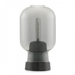 Normann Copenhagen Amp Table Light  Smoke Black