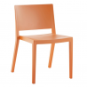 Kartell Lizz Chair Matt  Matt Orange
