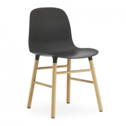 Normann Copenhagen Form Chair Oak Legs Black