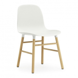 Normann Copenhagen Form Chair Oak Legs White