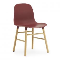 Normann Copenhagen Form Chair Oak Legs Red