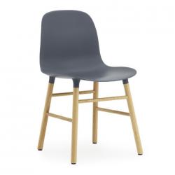 Normann Copenhagen Form Chair Oak Legs Blue