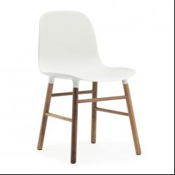 Normann Copenhagen Form Chair Walnut Legs White
