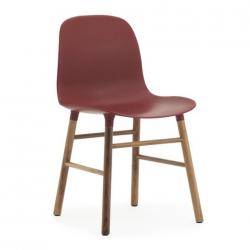 Normann Copenhagen Form Chair Walnut Legs Red
