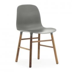 Normann Copenhagen Form Chair Walnut Legs Grey